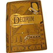 "1881: First Edition, "" Decorum """