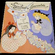 """1969 : Erte Signed First Edition """" Ermyntrude & Esmeralda """" by Lytton Strachey"""