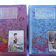 Pair Rare Religious Tract Society, London Children's Christian Books, circa 1873-80