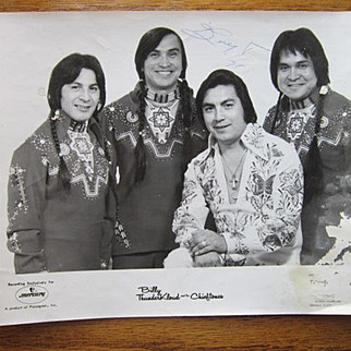 """Vintage Photo """"Billy ThunderKloud and the Chieftone's"""" Canadian Band"""