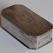 Antique Austro - Hungarian SILVER PILL BOX - early 19th Century