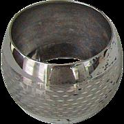 Vintage STERLING SILVER NAPKIN RING - English Sterling, Weave Pattern