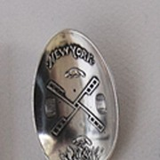 Antique Sterling, STATUE OF LIBERTY Spoon - Shiebler, c1891