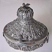 Vintage EGYPTIAN BOX - Sterling Silver, Ornate Flowers & Birds