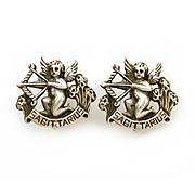 Cini Sterling Clip Earrings Zodiac Sagittarius Cherubs Bows & Arrows