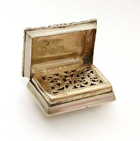 1824 Georgian Sterling Vinaigrette by Joseph Willmore