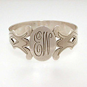 Sterling Finger Ring Style Napkin Ring