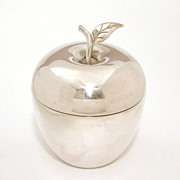 Tiffany & Co. Large Sterling Figural Apple Box