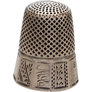 Antique Aesthetic Era Sterling Panel Thimble