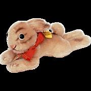 Vintage Steiff Little Lying Rabbit or Hare Lieg Hase -Stuffed Mohair Animal Bunny Rabbit - But