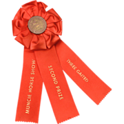Vintage Horse Show Award Ribbon Muncie Indiana Three Gaited Equestrian Competition Second Priz
