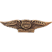 Jimmie Allen Fair Maid Flying Cadet Wings - Radio Premium Badge Pin, 1933-37 Air Adventures