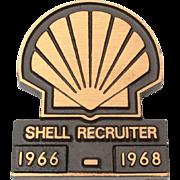 Shell Oil Recruiter 1960's Bronze Advertising Paperweight