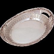 Barker Ellis Bread Basket, Pierced Silverplate Serving Piece, Vintage Ornate Silver Plate, Ellis Barker England Silverplated