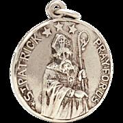 Creed Sterling Catholic Medal St. Patrick and Saint Bridget, Pray For Us, Reversible Prayer Me