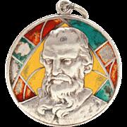 Saint Jude Thaddeus Catholic Medal Sterling Enamel Stained Glass Window, St. Jude Twelve Apost