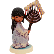 DeGrazia Goebel Festival of Lights, Vintage Hanukkah Menorah, Jewish Figurine, Judaica Goebel, Ettore Ted DeGrazia Southwest Native American