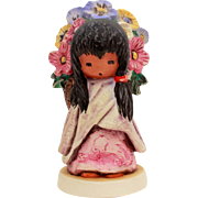 1983 DeGrazia Flower Girl, Figurine Goebel Degrazia, Southwest Style Wedding Flower Girl, Ettore Ted DeGrazia Goebel 10 310