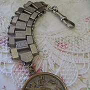 German Articulating Watch Chain Asian Inspired Fob