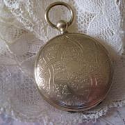 Victorian Locket with Blond Hair