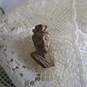 Antique Lava Cameo Stick Pin