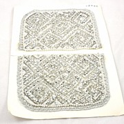 Makings for a Vintage Metallic Silver Bead Sequin Faux Pearl Evening Bag Purse