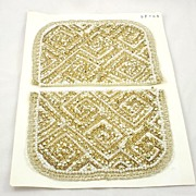 Makings for a Vintage Metallic Gold Bead Sequin Faux Pearl Evening Bag Purse