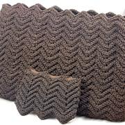 Spectacular Vintage 1940's Crocheted Chocolate Brown Purse Handbag