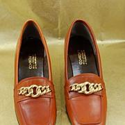 Wonderful Vintage G.Fox & Co Brown Tan Leather Oxford Shoes Size 5 1/2B