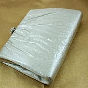 Vintage Shimmering Silver Clutch Purse Evening Bag