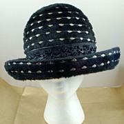 Vintage Bellini Black Hat with Brim