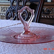 Depression Glass Pink Sandwich Platter