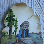 Vintage Stone Gold Rush Folk Art