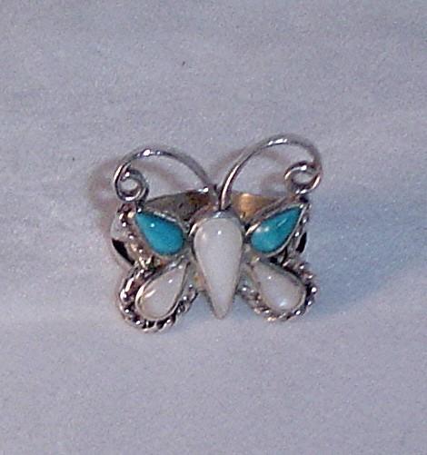Zuni Petite Point Butterfly ca 1970's