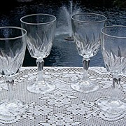 Cristal d'Arques Wine Glasses in Flamenco ca 1980