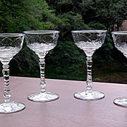 Set of 4 Libbey/Rock Sharpe Champagne/Cocktail ca 1930's-40