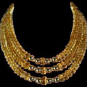Golden Splendor: 14K Gold and AAA Natural Golden Citrine Necklace