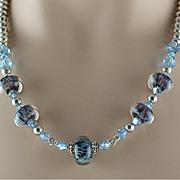 Ocean Mist Lampwork Beaded Necklace