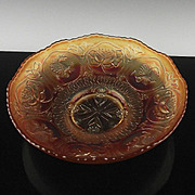 Fenton Marigold Dragon and Lotus Bowl