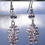 Extra Long Clear Crystal Earrings