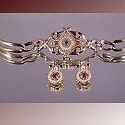 Vintage Tara Bracelet and Earring Set ca 1960's