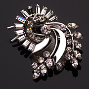 Vintage Sterling and Rhinestone Pendent/Brooch