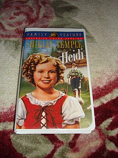 "MIP Shirley Temple VHS Tape ""Heidi"""