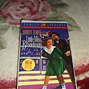 """NRFP Shirley Temple VHS Tape """"Little Miss Broadway"""""""