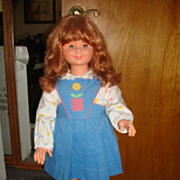 "SALE Rare 36"" Migliorati Doll from Italy from 1960"