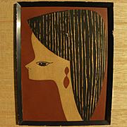 KUNIHIRO AMANO (1929-) Japanese 20th century printmaking pencil signed woodblock print as-is c