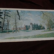 "NORMAN ROCKWELL (1894-1978) American art HAND SIGNED 1971 offset print ""Springtime in Stockbridge"""