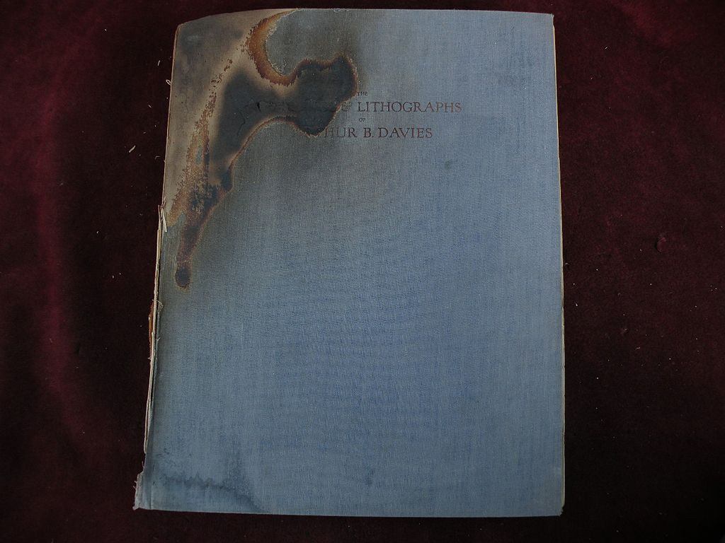 """Signed inscribed art book """"The Etchings and Lithographs of Arthur Bowen Davies"""" by Frederic Newlin Price"""