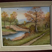 American pastel landscape drawing by ANDREW GUNDERSON (1888-1964)