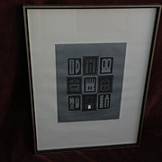 XIUPING LIAO (1936-) Chinese contemporary art limited edition etching pencil signed dated 1970